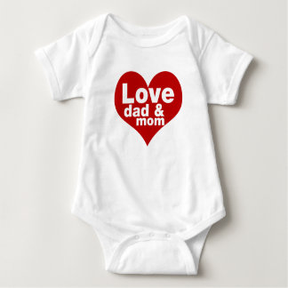 Liebe-Familien-Baby-Overall-T - Shirt