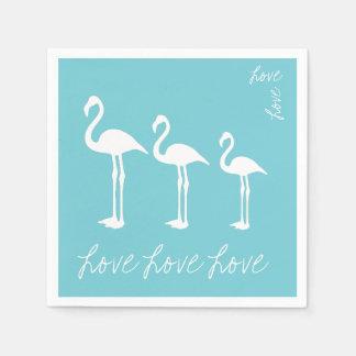 Liebe-Flamingo-Papierserviette Papierservietten