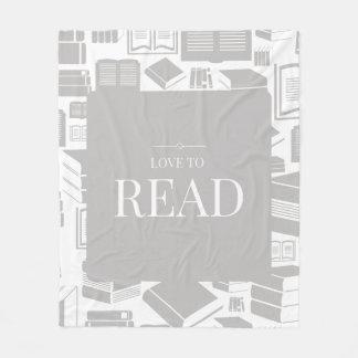 Liebe, Fleece-Decke zu lesen Fleecedecke