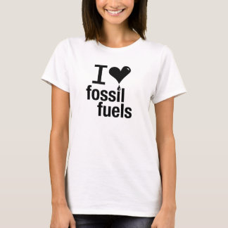 Liebe-Fossilienbrennstoff-T - Shirt I der Damen