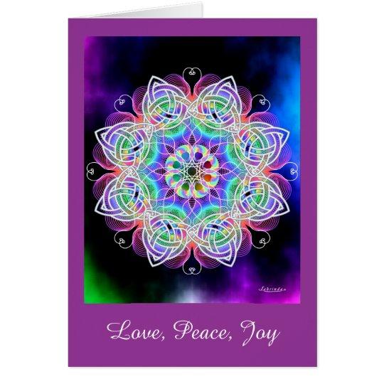 Liebe, Frieden, Freude Grußkarte