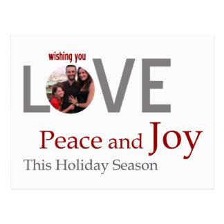 LIEBE Frieden und FREUDE kundengebundene Grußkarte Postkarte