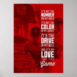 Liebe für das Spiel-Plakat mit Ihrem Bild Poster