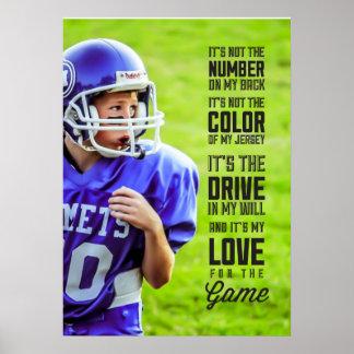 Liebe für das Spiel-Plakat mit Ihrem Foto Poster