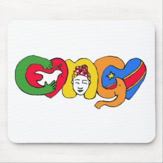 Liebe für den Kongo Mousepad