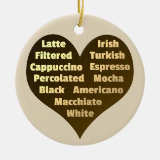 Liebe für Kaffee-Keramik-Verzierung Keramik Ornament