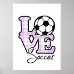 Liebe-Fußball Poster