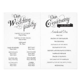 Liebe-Geschichten-Hochzeits-Programm-Flyer Flyer