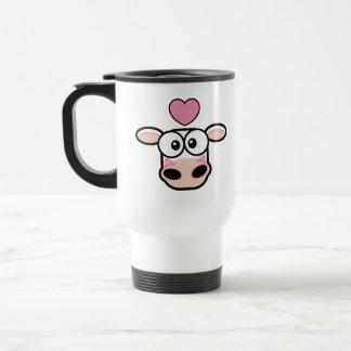 Liebe getroffene Kuh-Reise-Tasse Edelstahl Thermotasse