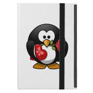 Liebe getroffener Penguin mit Valentine-Geschenken Schutzhülle Fürs iPad Mini