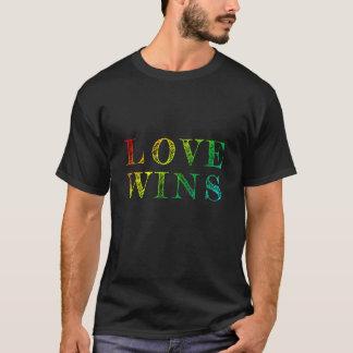 Liebe-Gewinne - Regenbogen/handgeschriebenes T-Shirt