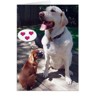 Liebe-Gruß-Karte (mit Hunden) Karte