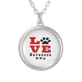 Liebe Havanese Hund Designes Halskette Mit Rundem Anhänger