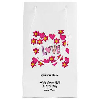 Liebe, heißes Rosa Kleine Geschenktüte
