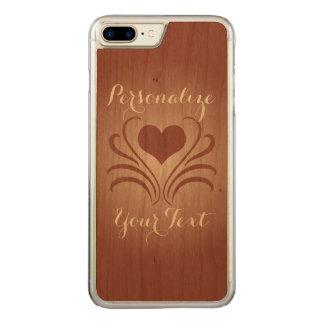 Liebe-Herz-Flair Curlicue Schablone-Auswahl Carved iPhone 8 Plus/7 Plus Hülle