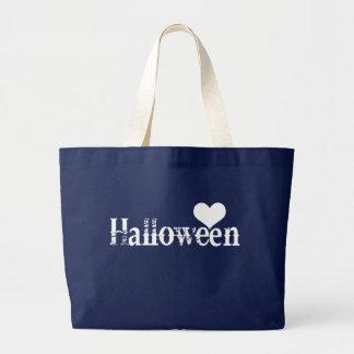 Liebe - Herz - Halloween Jumbo Stoffbeutel