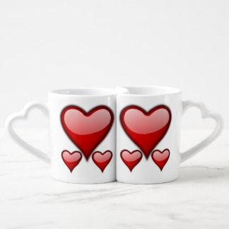 Liebe-Herz-Kaffee-Tassen-Set Duo-Tassen
