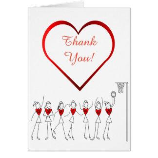 Liebe-HerzNetball danken Ihnen Grußkarte