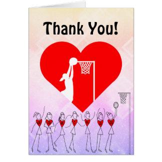 Liebe-HerzNetball danken Ihnen Karte