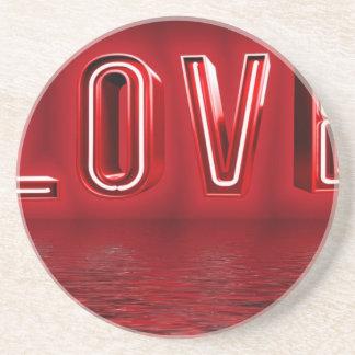 Liebe-Hintergrund Untersetzer
