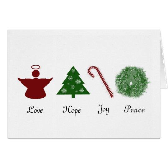 Liebe-Hoffnungs-Freude-Friedensweihnachtskarte Grußkarte