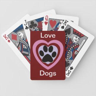 Liebe-Hundespielkarten Bicycle Spielkarten