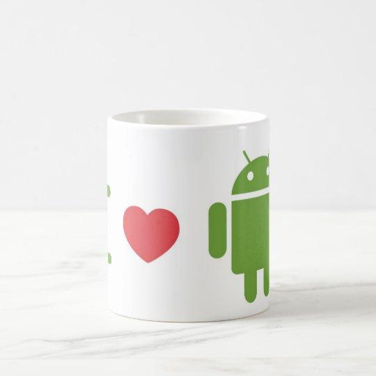 Liebe I Android Kaffeetasse