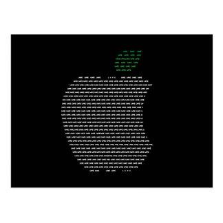 Liebe I Apple-Postkarte Postkarte