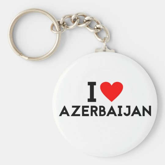 Liebe I Azerbaijan-Landnationsherz-Symboltext Schlüsselanhänger
