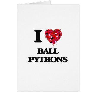 Liebe I Ball-Pythonschlangen Grußkarte