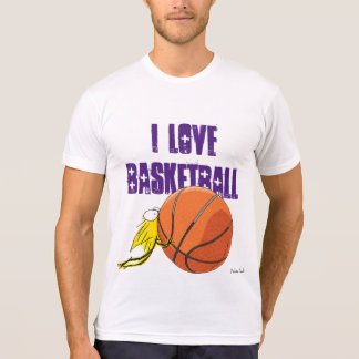 Liebe I BASKETBALL! Kätzchen-zäher Basketball T-Shirt