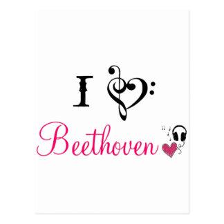 Liebe I Beethoven Postkarte