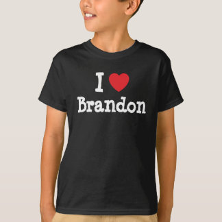 Liebe I Brandon Herzgewohnheit personalisiert T-Shirt