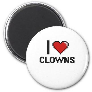 Liebe I Clowns Runder Magnet 5,1 Cm