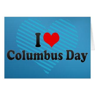 Liebe I Columbus-Tag Grußkarte