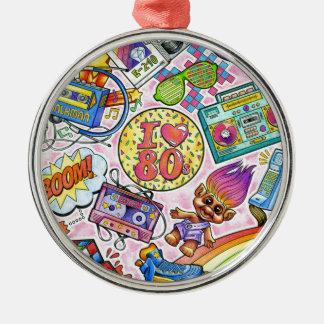Liebe I der 80er - Achtzigerjahre Swag Silbernes Ornament