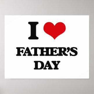 Liebe I der Vatertag Posterdruck