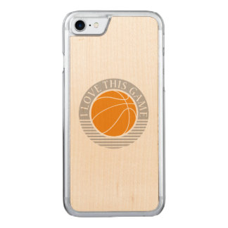 Liebe I dieses Spiel - Basketball Carved iPhone 8/7 Hülle