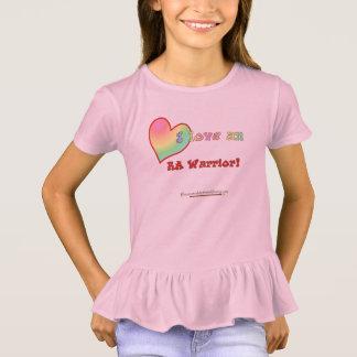 Liebe I eine Rüsche T des kleinen Mädchens RA T-Shirt