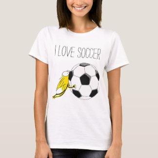 Liebe I FUSSBALL! Kätzchen zähes Soccerball T-Shirt