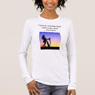 Liebe I, Gott mit Musik anzubeten und… mein Herz Langarm T-Shirt