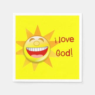 Liebe I Gott (Sonne) Servietten