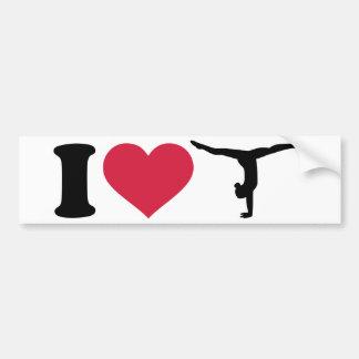 Liebe I Gymnastik Autoaufkleber