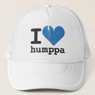 Liebe I Humppa blauer Fernlastfahrer-Hut Truckerkappe
