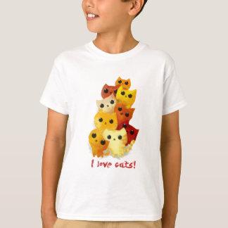 Liebe I Katzen T-Shirt