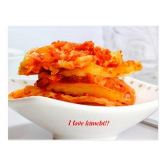 Liebe I kimchi Postkarte