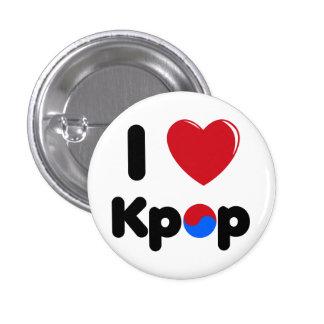 Liebe I kpop Knopf Runder Button 2,5 Cm