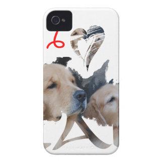 Liebe I Labrador iPhone 4 Cover