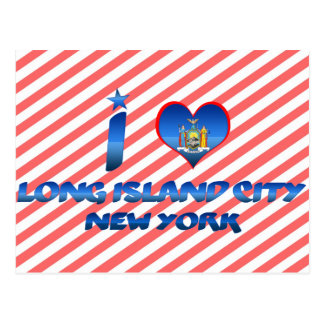 Liebe I Long- Islandstadt, New York Postkarte