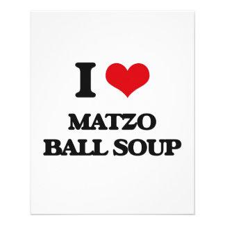 Liebe I Matzo-Ball-Suppe 11,4 X 14,2 Cm Flyer